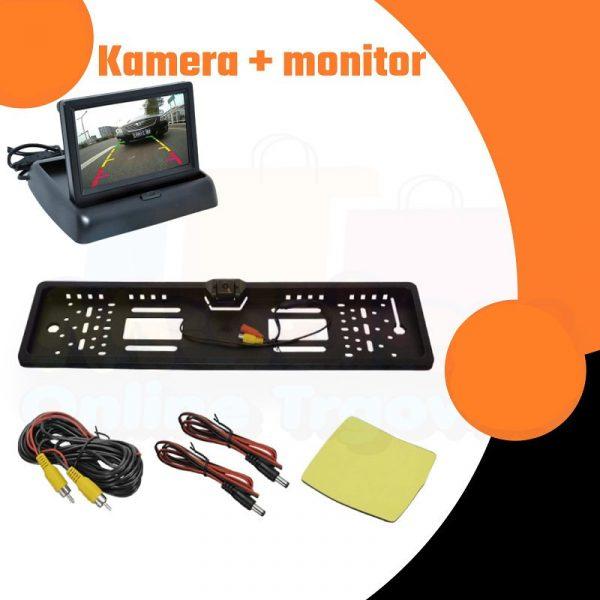 Okvir za tablicu sa kamerom i monitorom